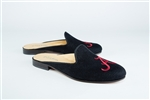 Women's ALABAMA Black Linen Mule