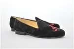 Women's ALABAMA Black Suede Loafer