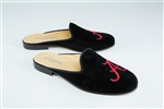 Women's ALABAMA Black Velvet Mule