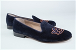 Women's Auburn Blue Suede Loafer
