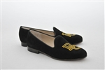 Women's Baylor University Black Suede Loafer