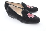 Women's Boston College Black Suede Loafer