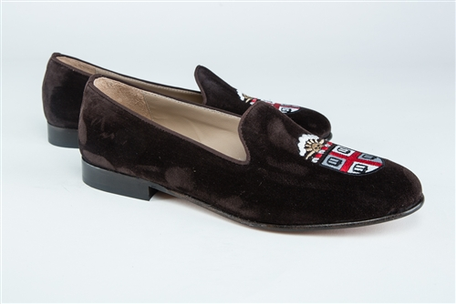 Women's BROWN UNIVERSITY  Brown Suede (Crest) Loafer