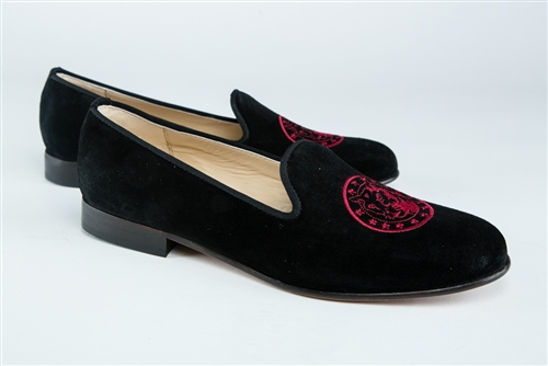 Women's COLLEGE OF CHARLESTON Black Suede Loafer