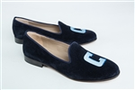"Women's COLUMBIA University ""C"" Blue Suede Loafer"