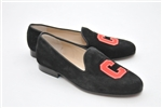 Women's CORNELL UNIVERSITY Black Suede Loafer