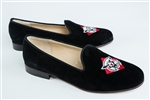 Women's DAVIDSON COLLEGE Black Suede Loafer