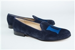 Women's Duke University Blue Suede Loafer