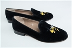 "Women's Georgia Tech Black Suede ""Buzz Mascot"" Loafer"