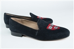 "Women's Harvard ""Veritas Shield"" Black Linen Loafer"