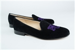 Women's HOLY CROSS College Black Suede Loafer