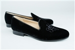 Women's JPC Monogram Black Velvet Loafer