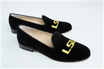Women's Louisiana State University (LSU) Black Suede Loafer
