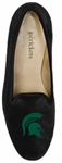 Women's Michigan State University Black Suede Loafer