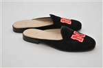 Women's UNIVERSITY OF NEBRASKA Black Suede Mule