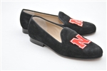 Women's UNIVERSITY OF NEBRASKA Black Suede Loafer