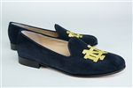 Women's Notre Dame Blue Suede Loafer