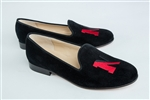 Women's Northeastern University Black Suede Loafer