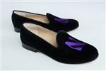 Women's NORTHWESTERN UNIVERSITY Black Suede Loafer