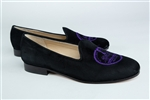 "Women's New York University Black Suede Loafer ""Crest"""