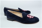 Women's Samford University Blue Suede Loafer