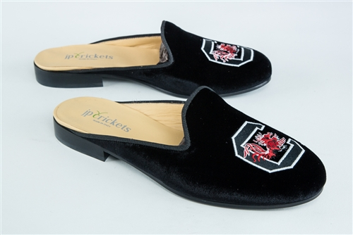 Women's SOUTH CAROLINA Black Velvet Mule