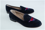 Women's SMU Blue Suede Loafer