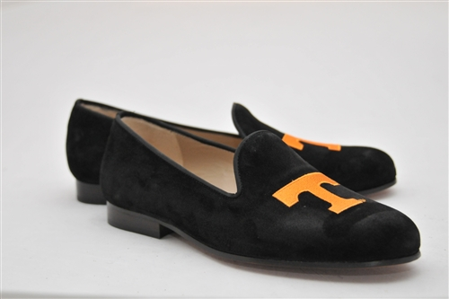 Women's University of Tennessee Black Suede Loafer