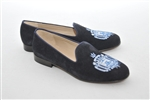 "Women's United States Naval Academy ""Crest"" Navy Suede Loafer"