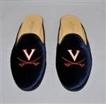 Women's VIRGINIA Blue Velvet Mule