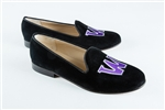 Women's Williams College Black Suede Loafer
