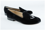 Women's WOFFORD COLLEGE Black Suede Loafer