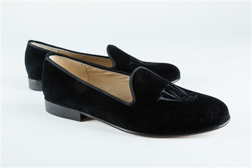 Women's WASHINGTON ST. LOUIS UNIVERSITY Black Suede Loafer