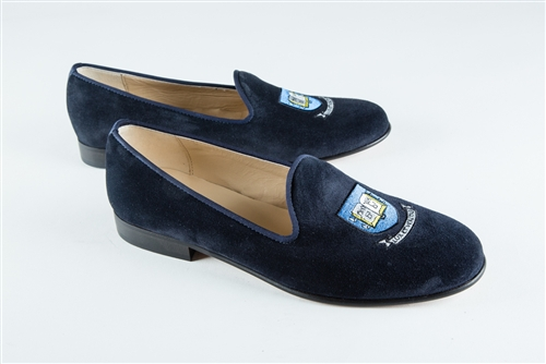 Women's YALE UNIVERSITY Crest Blue Suede Loafer