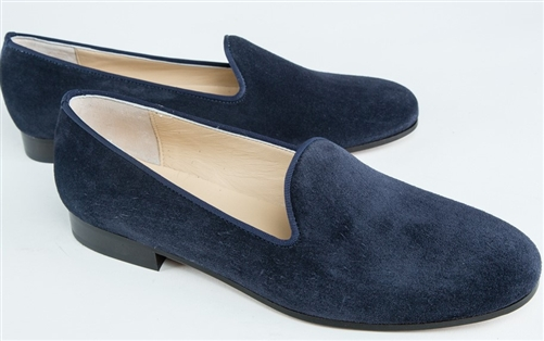 Women's JPC Plain Blue Suede Loafer