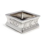 Men's Sterling Silver Square Ring