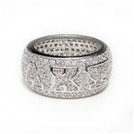 Ladies' Sterling Silver All-Pavé Ring