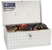 BETTER BUILT Tote Tool Box with Handle — Aluminum, Diamond Plate, Hasp Latch, 20in. x 12in. x 7.75in., Model# 36012773
