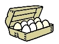 Eggs, Free Range, 1 dozen, 8 1/2 Acres