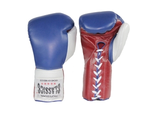 Red, White and Blue Leather Boxing Gloves