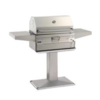 FireMagic Charcoal Patio Post Mount Grill