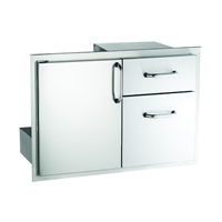 FireMagic Select Door With Double Drawers, 18-In X 30-In