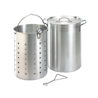 Fire Magic Turkey Frying Pot Kit 26 Qt. Aluminum with Basket & Thermometer
