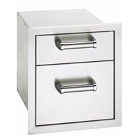 FireMagic Flush Mounted Double Drawer, 16-In X 14-In