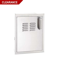 Fire Magic Flush Mounted Single Door With Tank Tray And Louvers, 21-In x 14-In, Left Hinge