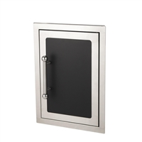 "Fire Magic Black Diamond Single Access Door Soft Close, 21""h x 14½""w"