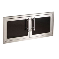 "Fire Magic Black Diamond Double Access Doors Soft Close, 16""h x 39""w"