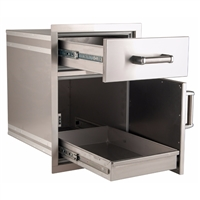 Firemagic Flush Mounted Medium Pantry Door/Drawer Combo