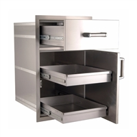 Firemagic Flush Mounted Large Pantry Door/Drawer Combo