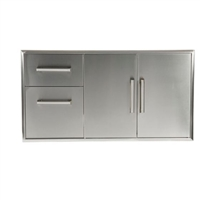 Coyote Combo Two Drawer Cabinet plus Double Access Doors